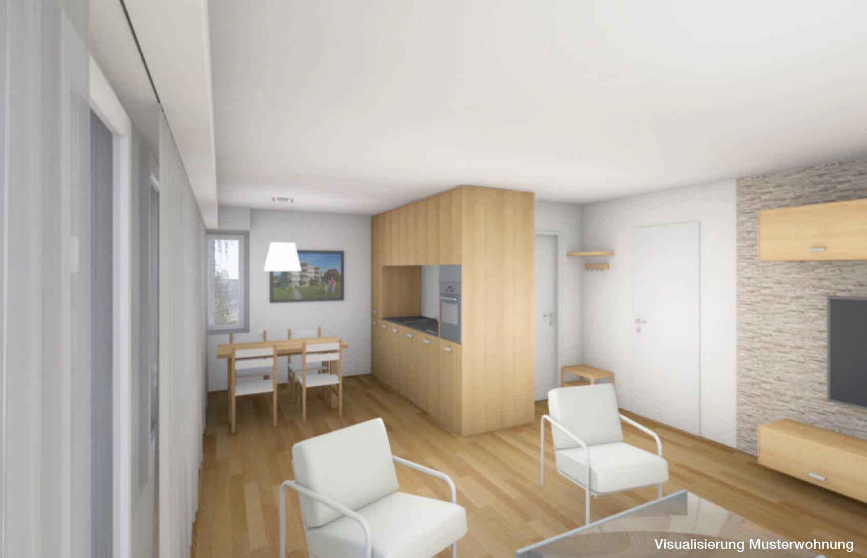 Visualisierung Innenansicht Wohnung BEWIA